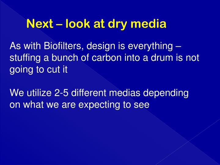 Next – look at dry media
