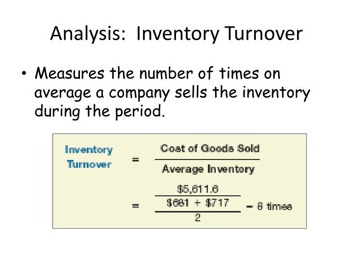 Analysis:  Inventory Turnover
