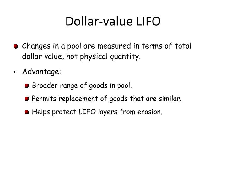 Dollar-value LIFO