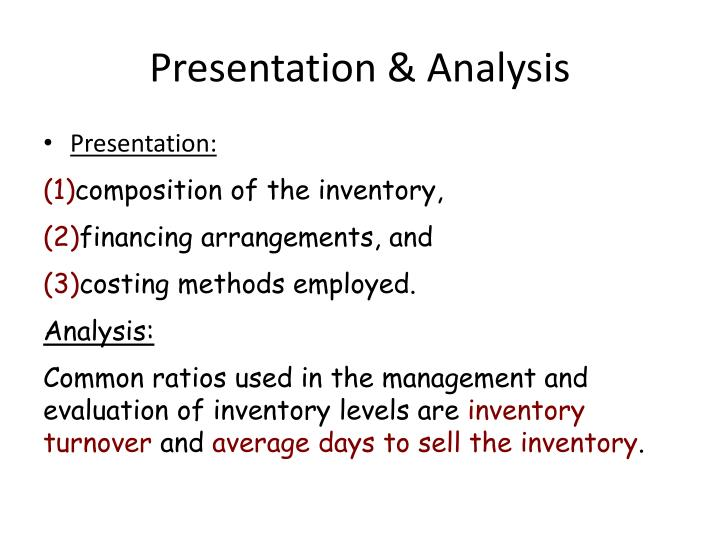 Presentation & Analysis
