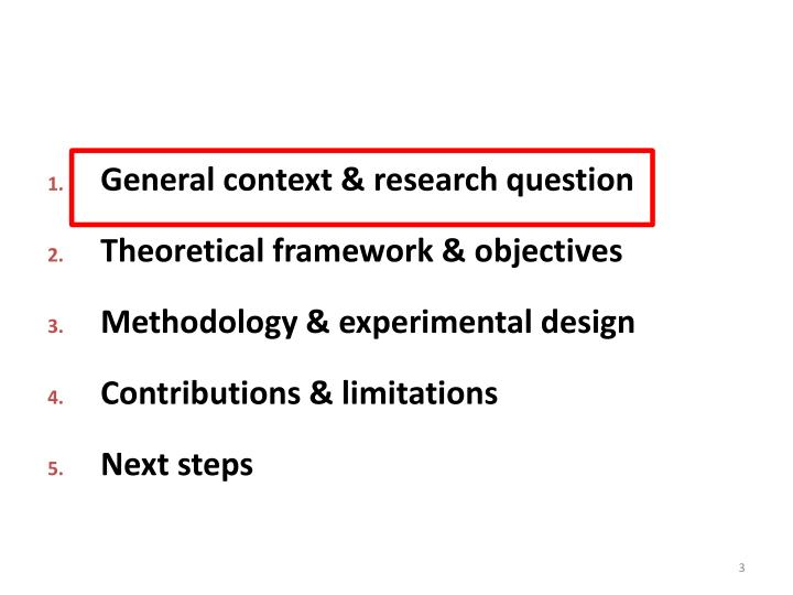 General context & research question