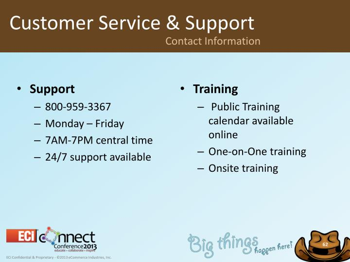Customer Service & Support