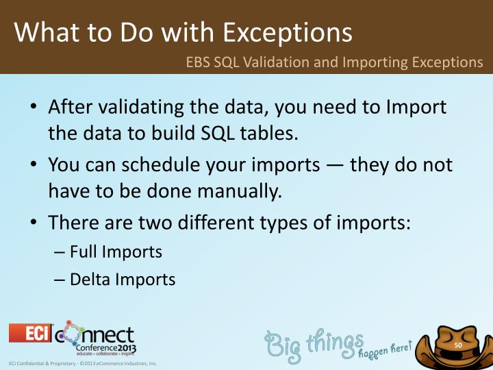 What to Do with Exceptions