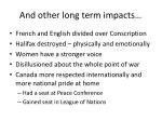 and other long term impacts