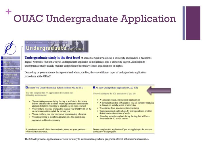 OUAC Undergraduate Application