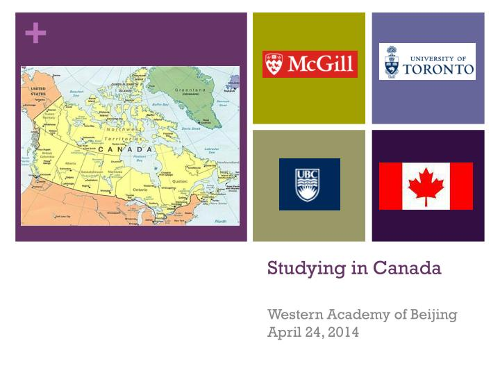 Studying in canada