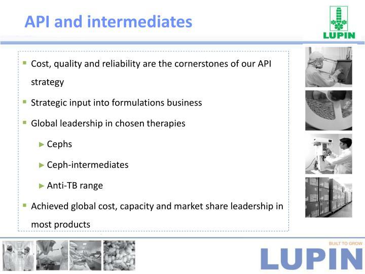 API and intermediates