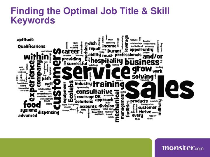Finding the Optimal Job Title & Skill Keywords