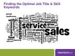 finding the optimal job title skill keywords1