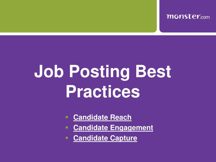 Job Posting Best Practices
