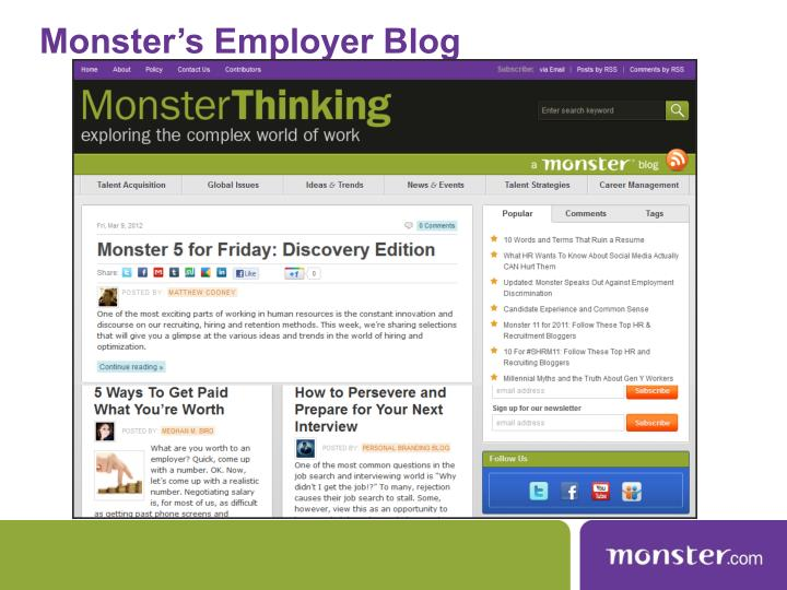 Monster's Employer Blog