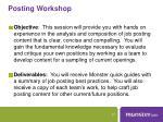 posting workshop