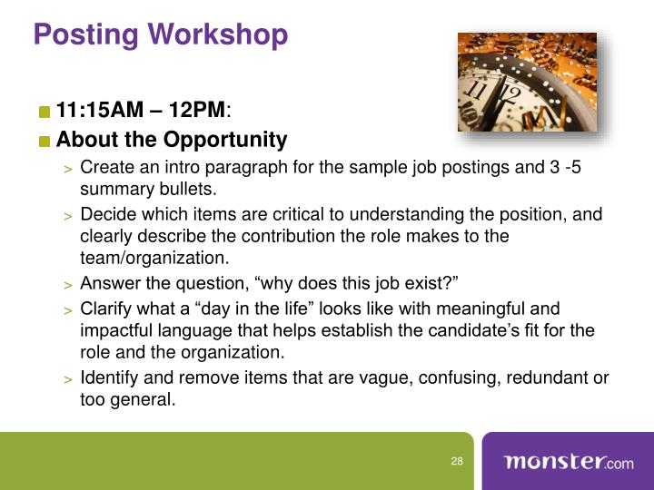 Posting Workshop