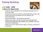 posting workshop1