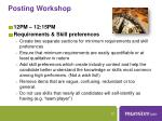 posting workshop2