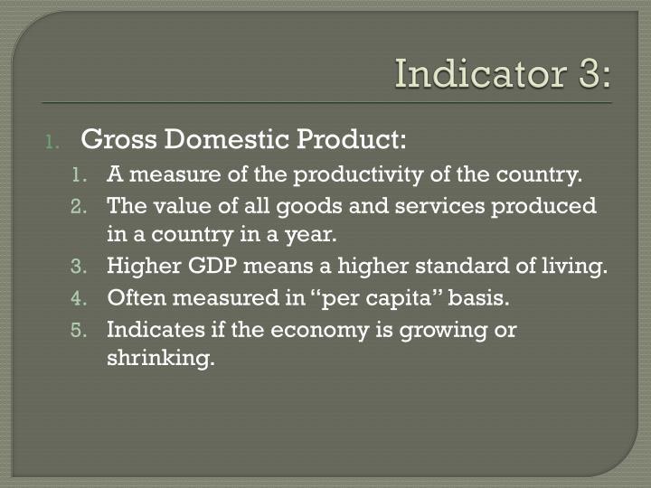 Indicator 3: