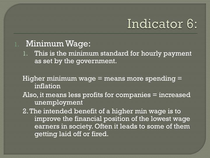 Indicator 6:
