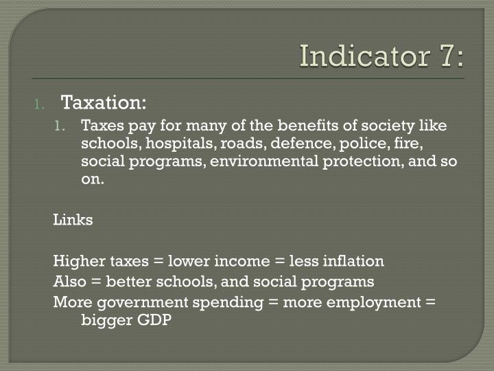 Indicator 7: