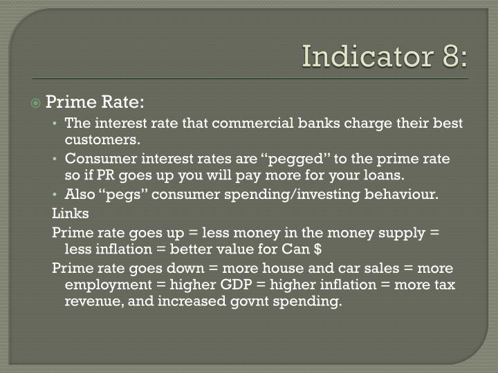 Indicator 8: