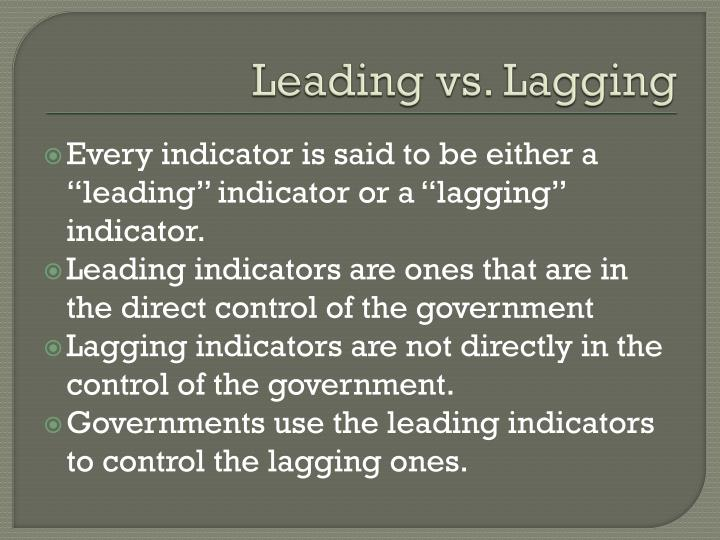 Leading vs. Lagging