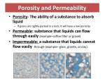 porosity and permeability