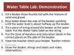 water table lab demonstration