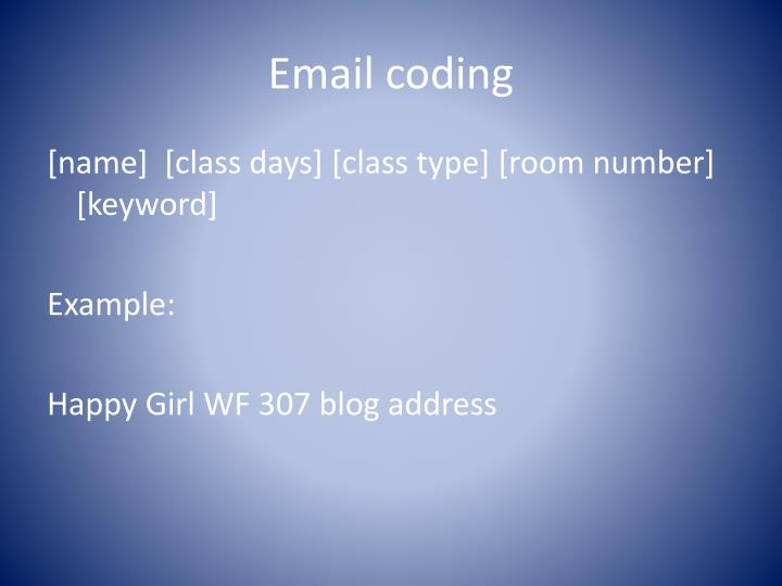 Email coding
