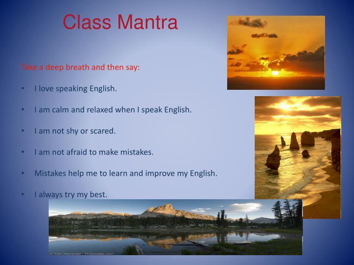 Class Mantra