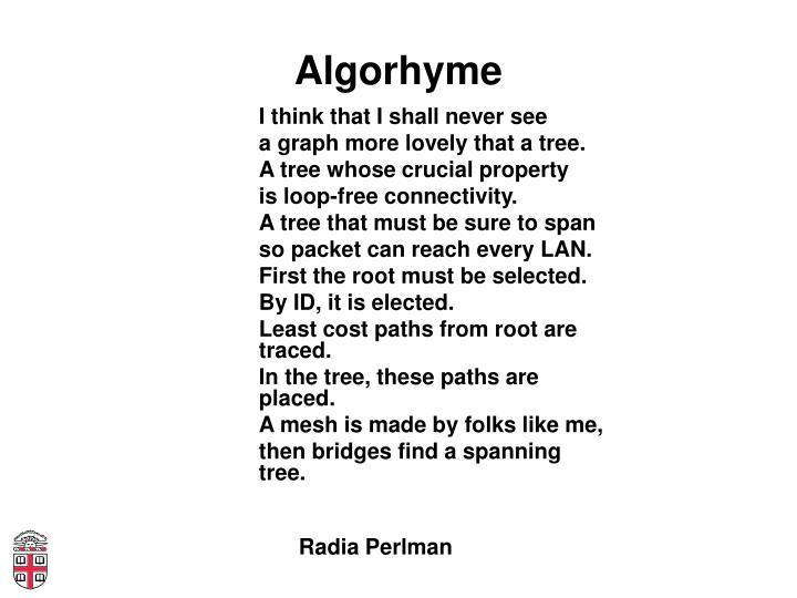 Algorhyme