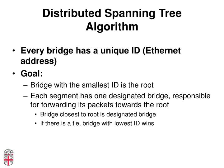 Distributed Spanning Tree Algorithm
