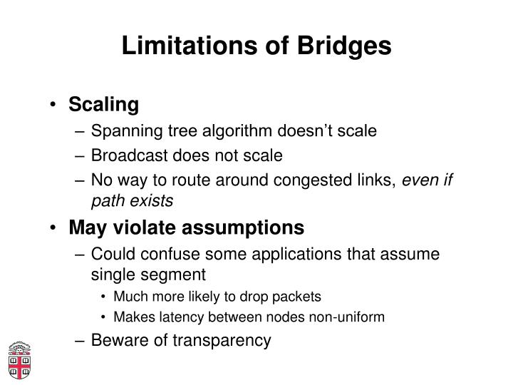 Limitations of Bridges