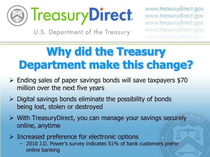 Why did the Treasury Department make this