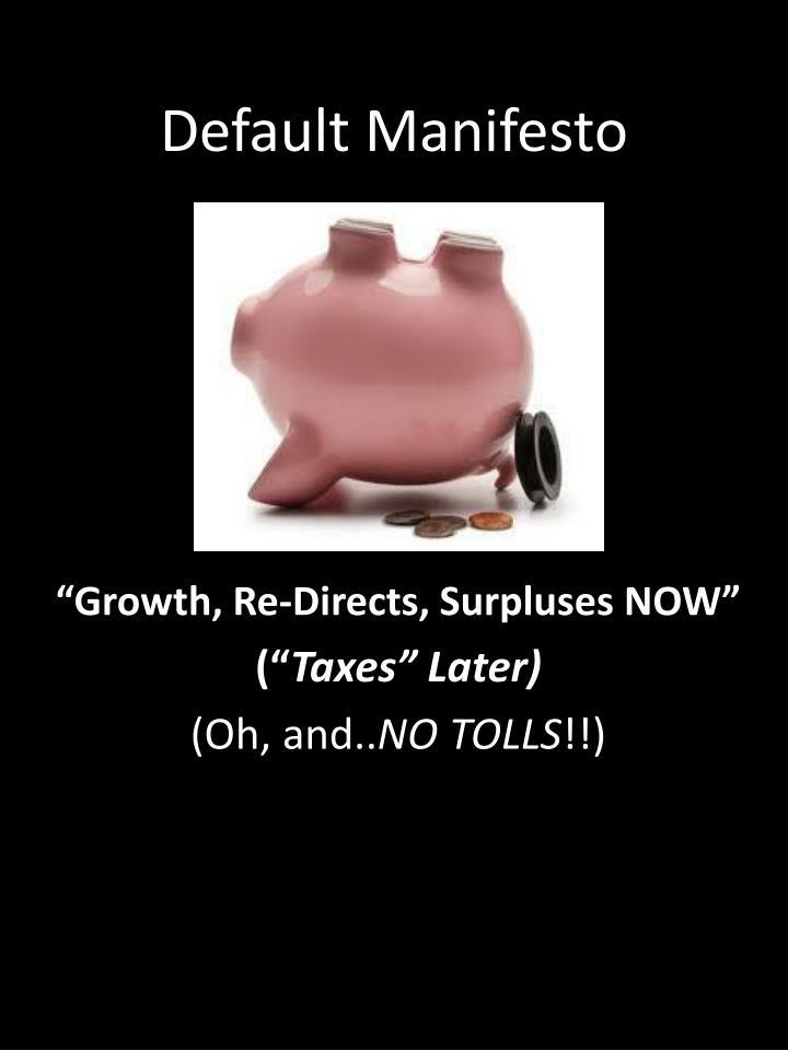 Default Manifesto