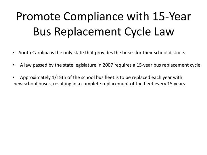 Promote Compliance with 15