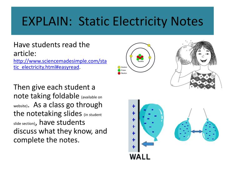 factors influencing static electricity Static electricity: problem set overview this set of 33 problems targets your ability to determine circuit quantities such as the quantity of charge, separation distance between charges, electric force, electric field strength, and resultant forces and field strengths from verbal descriptions and diagrams.