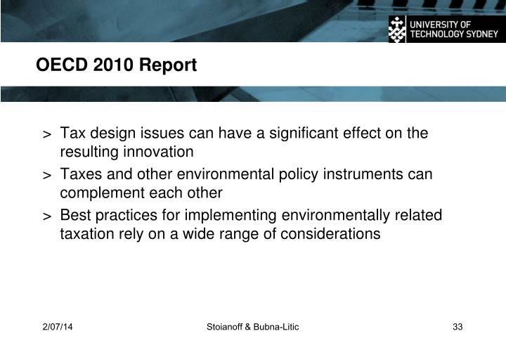 OECD 2010 Report