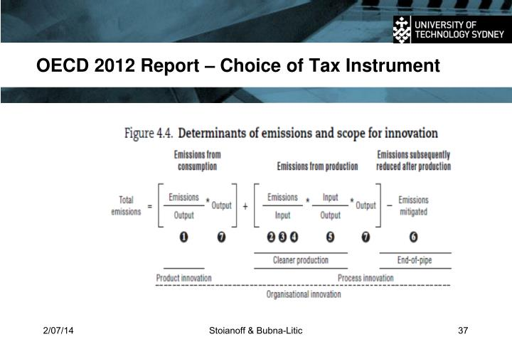 OECD 2012 Report – Choice of Tax Instrument