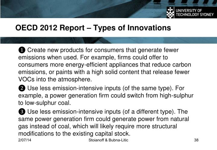 OECD 2012 Report –