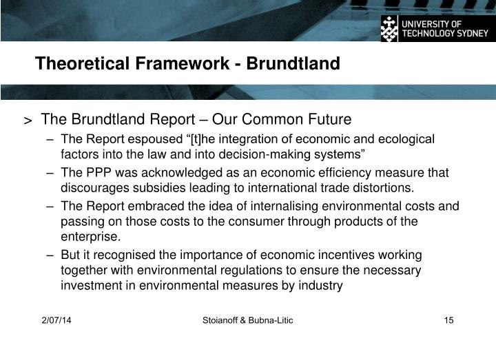 Theoretical Framework - Brundtland