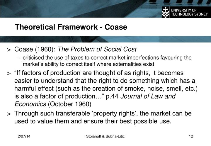 Theoretical Framework - Coase