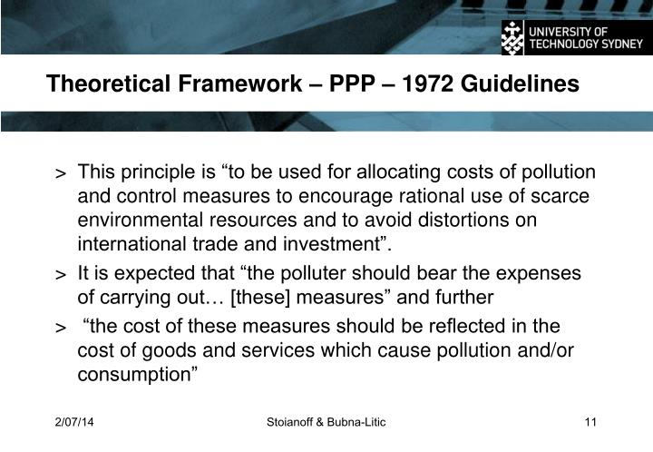 Theoretical Framework – PPP – 1972 Guidelines