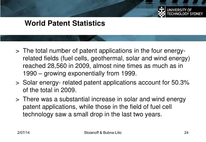 World Patent Statistics