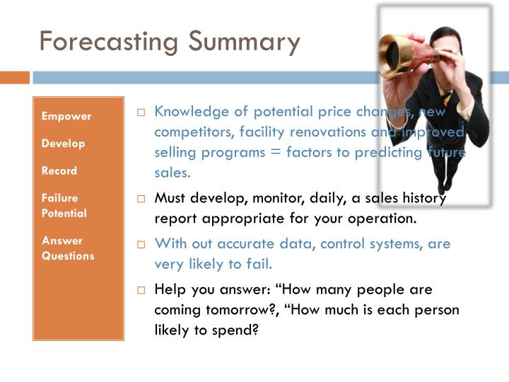 Forecasting Summary
