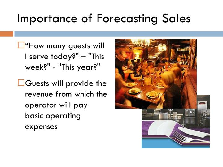 Importance of forecasting sales