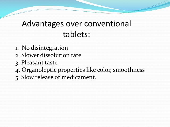 Advantages over conventional