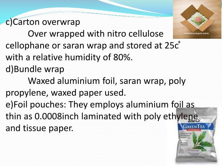 c)Carton overwrap