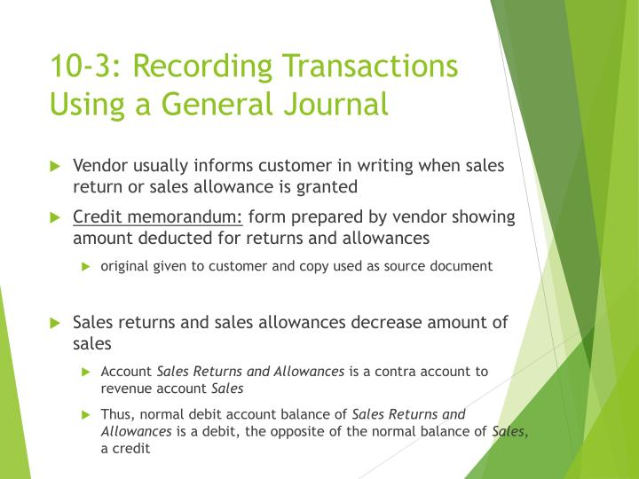 10 3 recording transactions using a general journal1