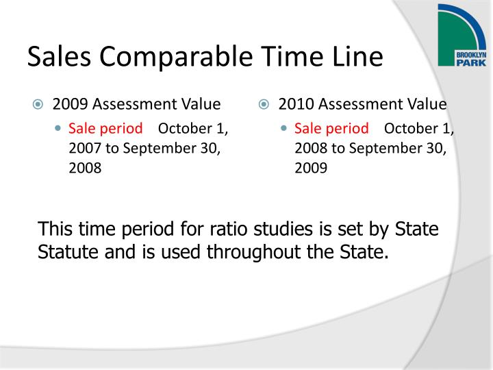 Sales Comparable Time Line