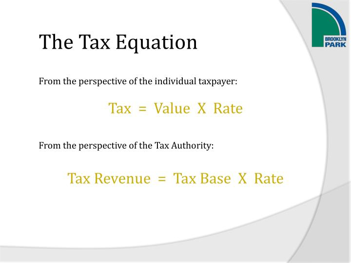 The Tax Equation