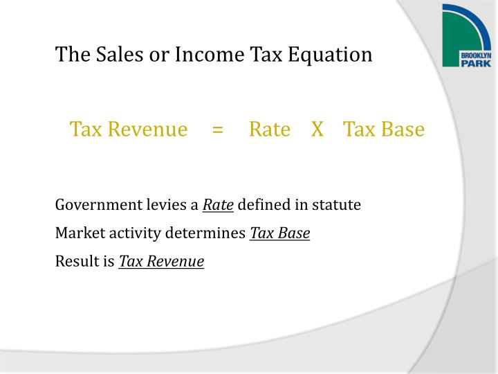 The Sales or Income Tax Equation